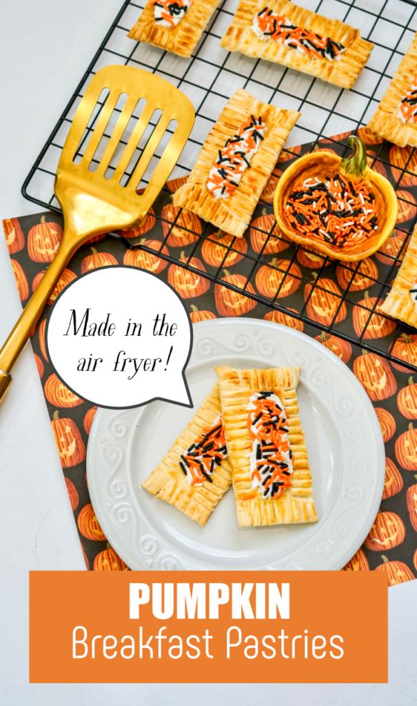 air fryer pumpkin breakfast pastries