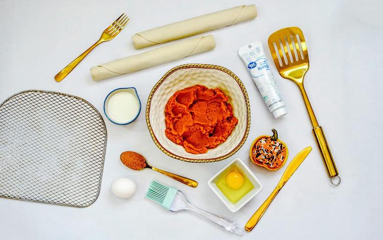 ingredients needed for air fryer pumpkin breakfast pastry